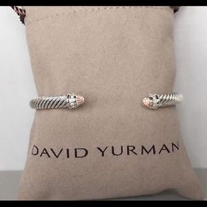 David Yurman 5mm Morganite & Diamonds Bracelet